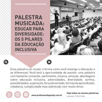 Palestra 3: Educar para diversidade. 5 Pilares da Educação Inclusiva